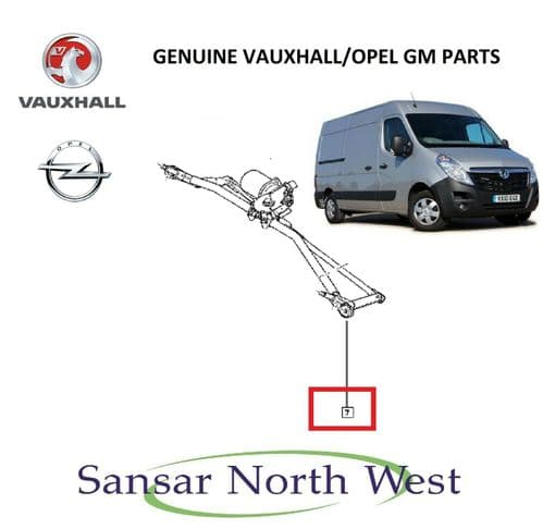 Brand NEW Genuine Vauxhall Movano Front Wiper Motor & Linkage Mechanism RHD Only